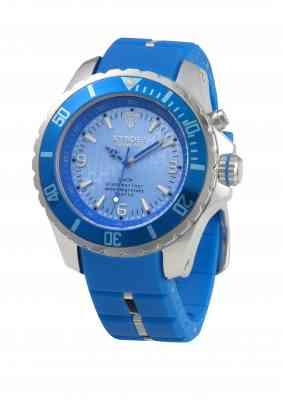 Синие наручные часы Kyboe с голубым циферблатом