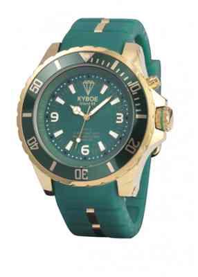 Зеленые часы Kyboe Gold series KG.003