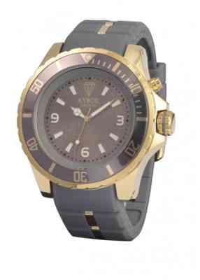 Серые часы с золотым корпусом Gold series KG.005 48мм и 55мм