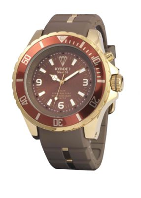 Часы коричневого цвета Kyboe Gold