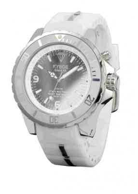 Часы белым большие с зеркальным циферблатом
