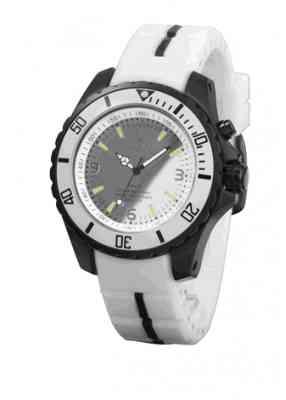 Черно белые часы с зеркальным циферблатом