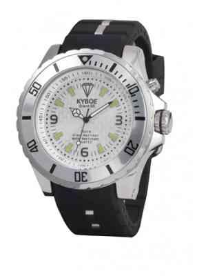 Черный наручные часы в серебряном корпусе и белым циферблатом