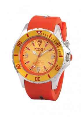 Оранжевый цвет часов Kyboe и желтый циферблат часов