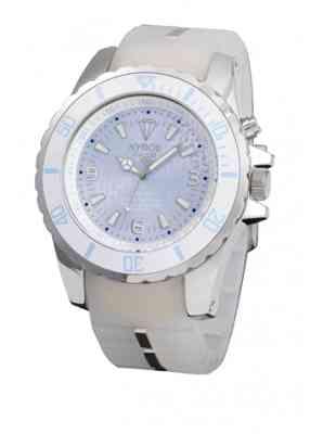 Наручные часы белого цвета корпус часов из нержавеющей стали