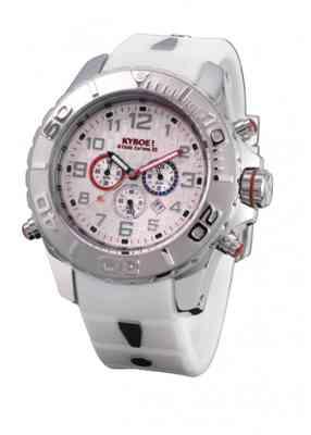 Белые наручные часы Kyboe KYM.001 с хронографом