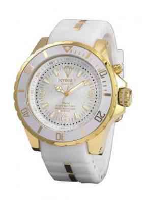 Часы белые Kyboe Gold series KG.004 44мм