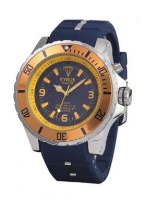Синие наручные часы с желтым циферблатом