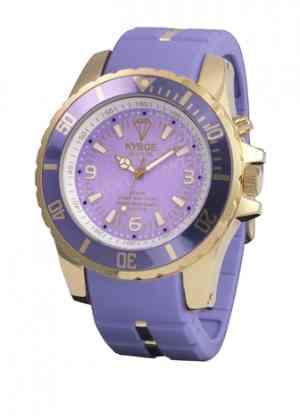 Фиолетовые наручные часы диаметр 48мм