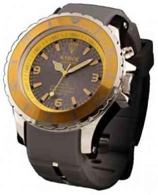 Наручные часы Kyboe Marine series MS.005 коричневого цвета с золотым корпусом
