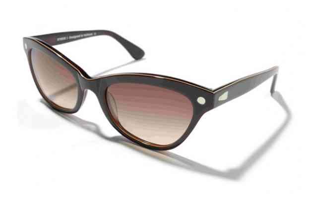 Солнцезащитные очки  KYBOE papillon темного цвета