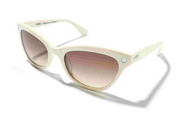 Солнцезащитные очки KYBOE papillon светлого цвета с темными стеклами